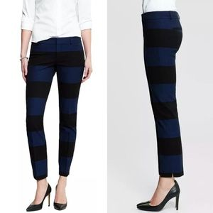 Banana Republic striped Sloan slim ankle pants, 6